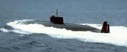 The first in the world one-piece titanium nuclear-power submarine, Project 661